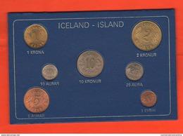 Islanda Iceland 6 Monete Anni '60 Coin Set Unc - Iceland