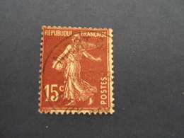 "1903-60  -  Oblitéré  N°  189   ""  SEMEUSE, 15 C  Brun Lilas ""    Net   0.40   ""   Niort....""  Photo  8 - 1903-60 Semeuse Lignée"