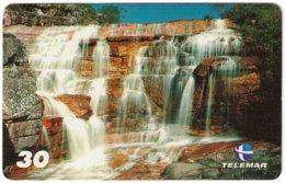 BRASIL M-097 Magnetic Telemar - Landscape, Waterfall - Used - Brésil