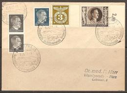 WW II - Briefumschlag Mit Sondermarke + Sonderstempel - Eisenstrass - Sommerfrüche Im Böhmerwald. 16/05/1943 - Covers & Documents