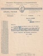 35 RENNES. - A LA SEMEUSE. - H.GRUEL-FAYER. Format A4 - Agriculture