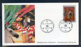 TIMBRE FRANCE...REF120520...DOCUMENT PHILATELIQUE 1ER JOUR ...2 Octobre 1993 Centre National Des Arts Du Cirque - 1990-1999