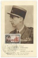CARTE JOURNEE DU TIMBRE 1951 / ALGER ALGERIE / JEAN COLONNA D'ORNANO MORT EN 1941 A MOURZOUK FEZZAN - Storia Postale