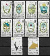 1966 Argentina Escudos Provinciales 10v. Mint. - Ungebraucht