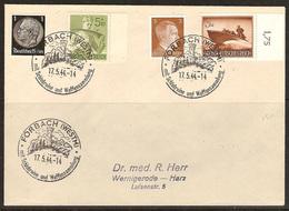 WW II - Briefumschlag Mit Sondermarke + Sonderstempel - Forbach (Westm) Mit Schlobruine Und Waffensammlung. 17/05/1944 - Germany