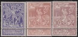 Belgie     .    OBP   .    71/73      .  **      .    Postfris   .   /   .   Neuf SANS Charniere - 1894-1896 Exhibitions