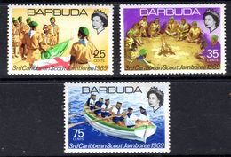 BARBUDA - 1969 SCOUT JAMBOREE SET (3V) FINE MNH ** SG 35-37 - Barbuda (...-1981)