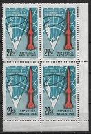1966 Argentina Lanzamiento De Cohetes En La Antartida 4v. Cuadro Mint. - Argentina