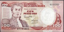 COLOMBIE - 100 Pesos Oro 1991 - UNC - Colombie