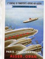 Air Algérie  -  Quadrimoteurs DC4 - Alger-Oran  -  Publicité D'epoque  -  CPM - 1946-....: Era Moderna