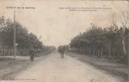 TE 24-(72) CIRCUIT DE LA SARTHE - LIGNE DROITE ENTRE LA FOURCHE ET BOULOIRE , A GAUCHE , ENTREE  DU CAMP D' AUVOURS - France