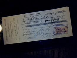 Lettre De Change Fabrique De Liqueurs Distillerie Moutarde Violette De Brive Rhum Salvator V.VE Couignoux à Brive 1933 - Lettres De Change