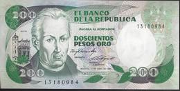 COLOMBIE - 200 Pesos Oro 1985 - UNC - Colombie