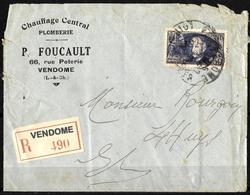 E-385 - FRANCE - 1938 - RARE REGISTERED COVER - FORGERY - FAUX - FAKE - FALSE - FALSCH - Timbres