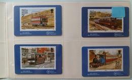 ISLE OF MAN - GPT - 4I0MA To D - Tramway & Railway Stamp - Set Of 4 - 300ex - Mint In Folder - Man (Ile De)