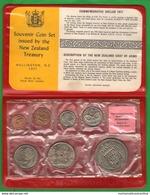Nuova Zelanda New Zeland Serie 1971 Coins Set Unc - Nueva Zelanda