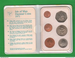 Isle Of Mann Isola Serie 1971 Coin Sets - Isle Of Man