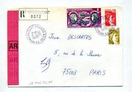 Lettre Recommandée  Moncoutant Sur Sabine Boucher - Marcophilie (Lettres)