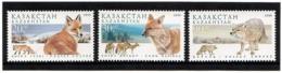 Kazakhstan 1999 .  Fauna: Foxes, Wolf. 3v: 20, 30, 90.    Michel # 264-66 - Kazakistan