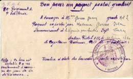 CACHET MILITAIRE: REGIMENT D'ARTILLERIE LOURDE Sur BON POSTAL GRATUIT / SP 615 (LEVANT) 1940 - Military Postmarks From 1900 (out Of Wars Periods)