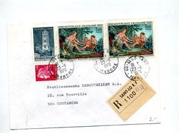 Lettre Recommandée Saint Lo Sur Boucher Rodez Cheffer - Marcophilie (Lettres)
