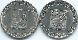 Venezuela - 50 Céntimos - 1965 - KMY41 & 1989 - KMY41a - Venezuela