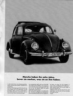 Volkswagen Coccinelle/Beetle/Cox/Kafer   -  Publicité D'epoque  -  CPM - Turismo
