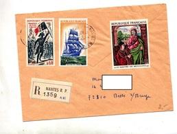 Lettre Recommandée Nantes Sur Moulins Terre Neuve - Marcophilie (Lettres)