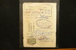 UK 10s Consular Service  Fiscal Sur Page Passeport 1954 Cote D'ivoire Cameroun - Steuermarken