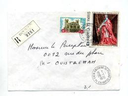 Lettre Recommandée Caen Sur Champaigne - Marcophilie (Lettres)