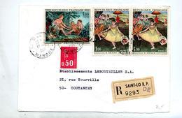 Lettre Recommandée Saint Lo Sur Degas Boucher Bequet - Marcophilie (Lettres)