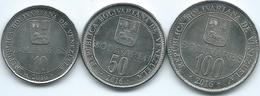 Venezuela - 2016 - 10, 50 & 100 Bolívares (KMYs 104-106) - Venezuela