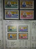285- SERIE COMPLETA AÑO 1944 BENEFICOS  30,00€, HUERFANOS CUERPO TELEGRAFOS ESPAÑA SAMUEL MORSE 88 ANIVERSARIO CENTENA - Wohlfahrtsmarken
