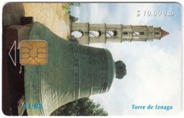 CUBA A-283 Chip Etecsa - Architecture, Clocktower - Used - Cuba