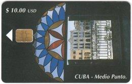 CUBA A-300 Chip Etecsa - Culture, Doorway - Used - Cuba
