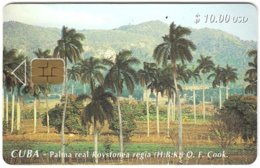 CUBA A-306 Chip Etecsa - Plant, Palmtree - Used - Cuba