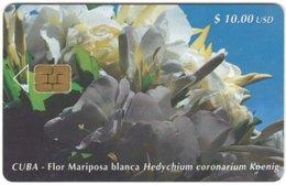 CUBA A-308 Chip Etecsa - Plant, Flower - Used - Cuba