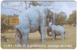 CUBA A-310 Chip Etecsa - Prehistoric Animal, Elephant - Used - Cuba