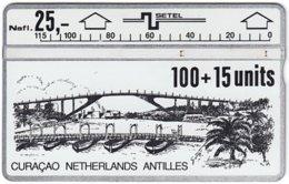 CURACAO A-023 Hologram Setel - Painting, Traffic, Bridge - 207B - Used - Antille (Olandesi)