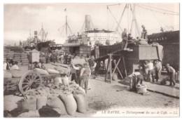 Le Havre - Déchargement Des Sacs De Café - édit LL. Levy 279 + Verso - Le Havre