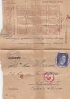 LETTRE REICH. 22 11 43. VERSO CALENDRIER 1943. KÖNIGSBERG POUR LYON. CENSURE - Germany