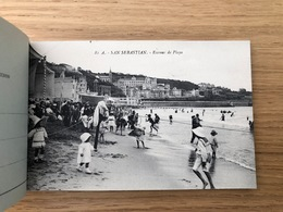 SAN SEBASTIAN Carnet De 24 CPA Détachables - Cartes Targetas Postales PLAGES. Set Of 24 Old Postcards Booklet ESPANA - Guipúzcoa (San Sebastián)