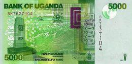 Uganda (BOU) 5000 Shillings 2017 UNC Cat No. P-51e / UG156e - Uganda