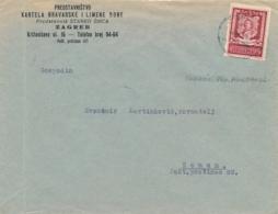 1943 CROATIE 3 K 50 PETAR ZRINSKI SEUL Sur Lettre De ZAGREB > ZEMUN - CROATIA - Croatia