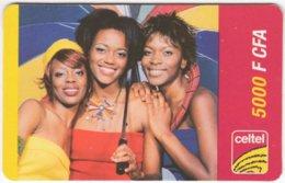 GABON A-028 Prepaid Celtel - People, Youth - Used - Gabon