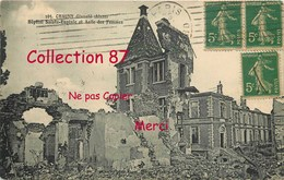 02 ☺♦♦ CHAUNY < VISUEL RARE De L'HOPITAL SAINTE EUGENIE Et ASILE Des FEMMES En RUINE - HOSPITAL - Chauny