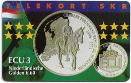 Denmark - Tele Danmark (Chip) - Ecu - Netherlands - TDP280 - 12.98, 600ex, Mint - Dänemark