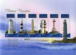 UKRAINE/UKRAINA 2010 MI.1111-16**,Yvert BF 75, Architecture. Lighthouses - Miniature Sheet - MNH - Ukraine
