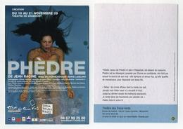 Phèdre, De Jean Racine. Théâtre Des Treize Vents à Montpellier. 2009. Femme Nue Nude Naked Woman - Theatre