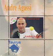 Equatorial Guinea   ANDRE AGASSI  - 1 Sheet - Tennis